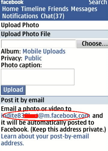 upload video on facebook from mobile