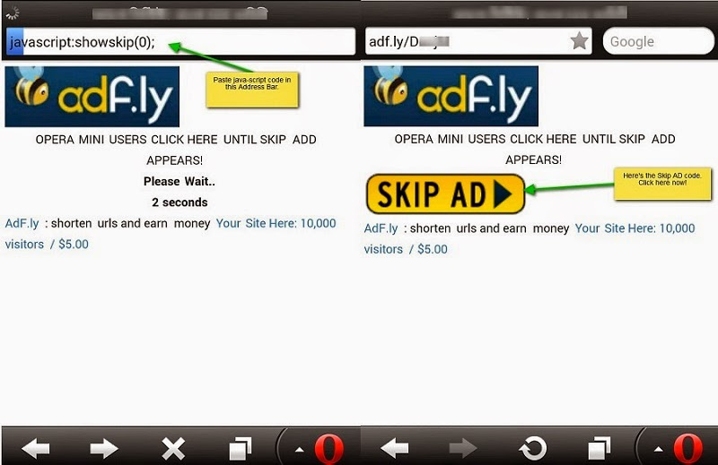 How To Skip / Bypass Adf.ly, Adfoc.us, Linkbucks in Any Mobile