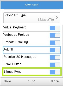 How To See Bitmap Fonts In Java Uc Browser