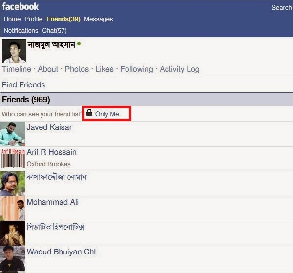 Hide Friendlist On Facebook Mobile
