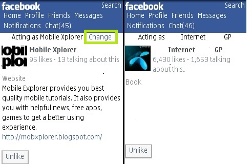 "How To Manually Change ""Acting As"" Of a Page On Facebook Mobile"