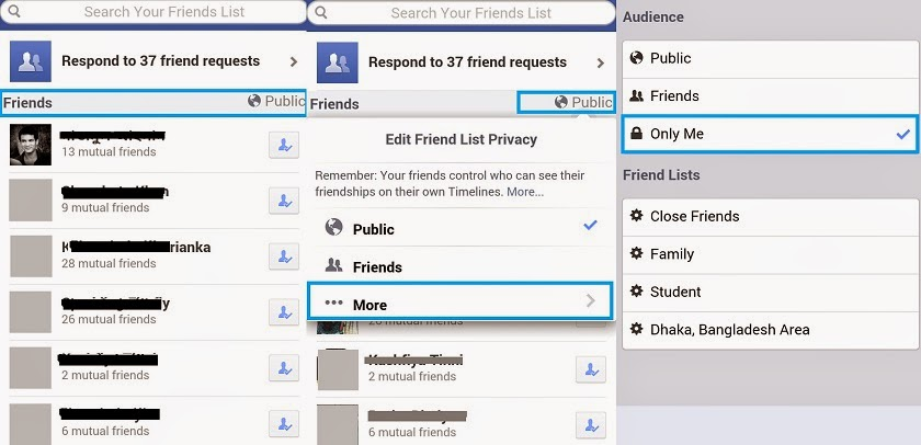 How To Hide Friend List on Android or iPhone