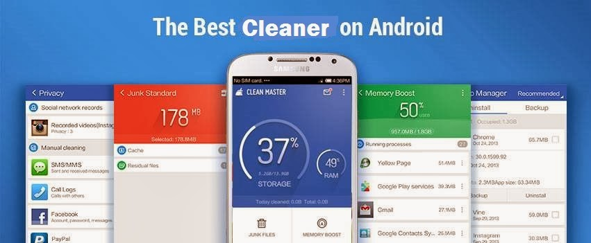 Clear RAM and cache, Boost Android's speed, Save Battery life!