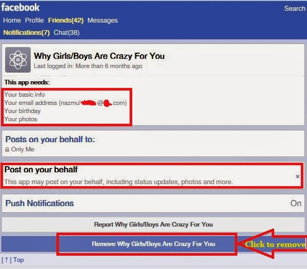 remove facebook apps from mobile