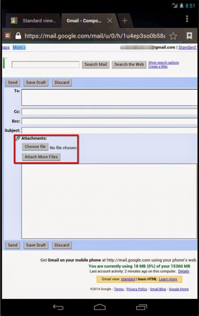 How To Send Email with Attachment in Mobile Version