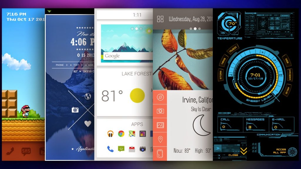 Bored with the default Android home screen? Taste a new flavor of Themer
