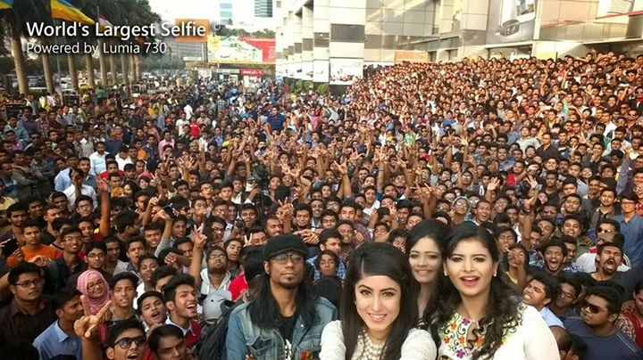 World's Largest Selfie was Taken with Lumia 730 in Bangladesh