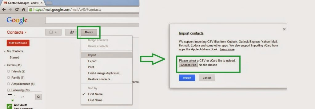 Guide : Transfer Nokia / Outlook Contacts to Android Device