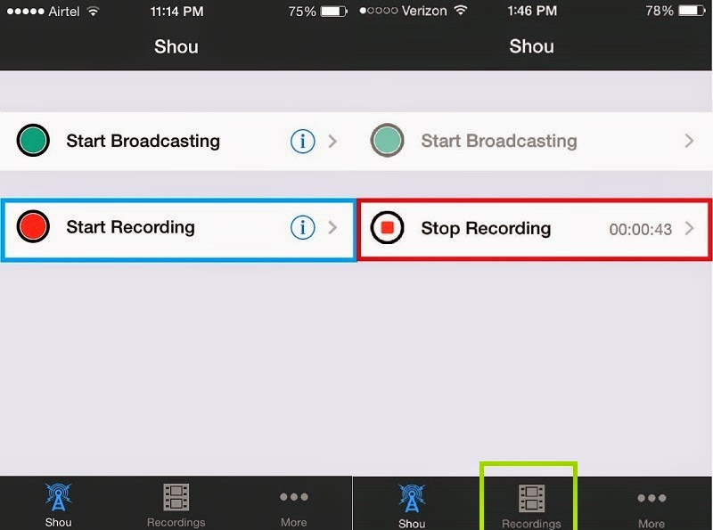How to Record Screen of iPhone itself without PC