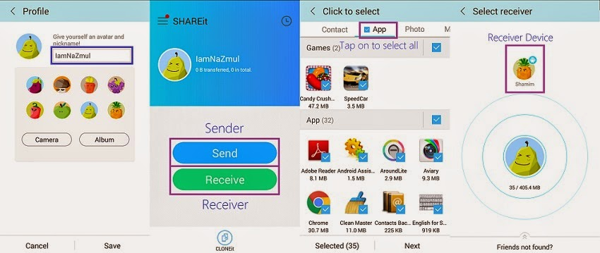 How to Transfer files in Android and iPhone devices.