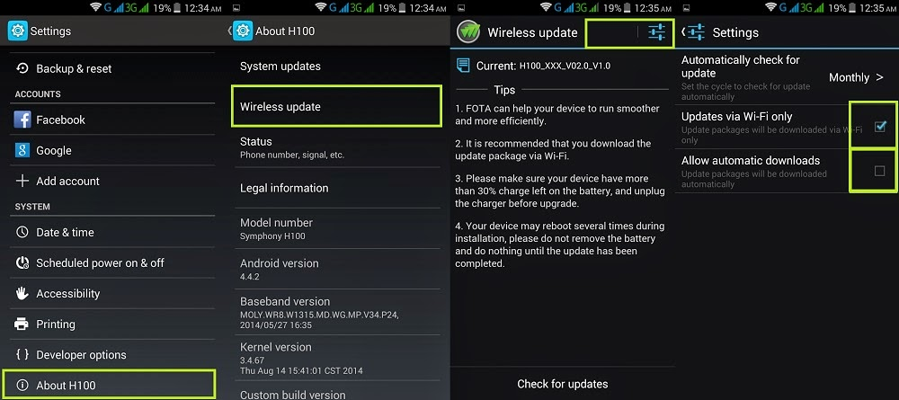 How To Stop Wireless Updates in Android device