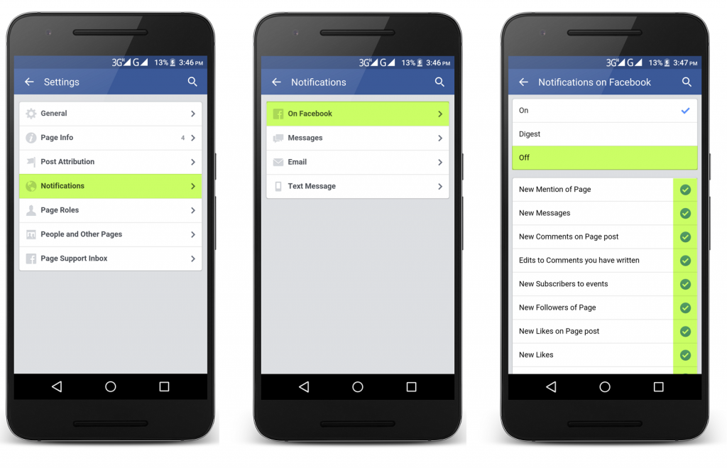 How to Turn off Facebook Page Notifications on Mobile