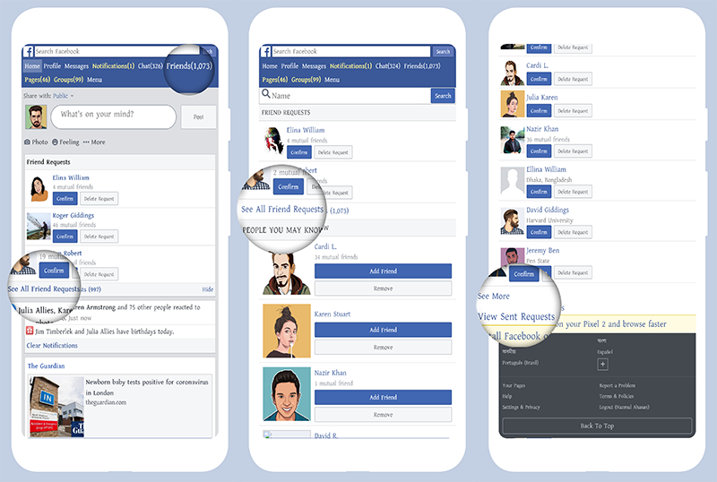 How To Check Sent Friend Requests on Facebook Mobile